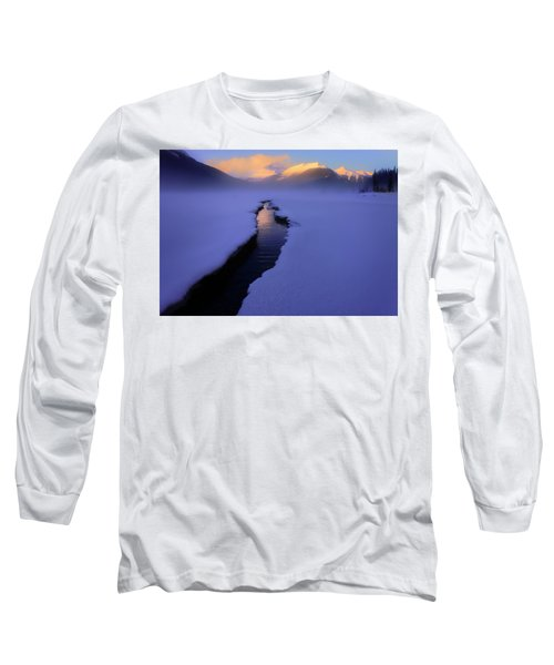 Foggy Winter Days In Banff Long Sleeve T-Shirt
