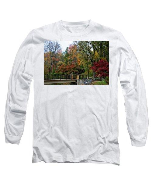 Foot Bridge In The Fall Long Sleeve T-Shirt