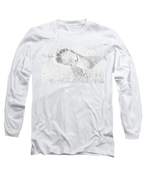 Footprint In The Sand Long Sleeve T-Shirt by Patrick Kain