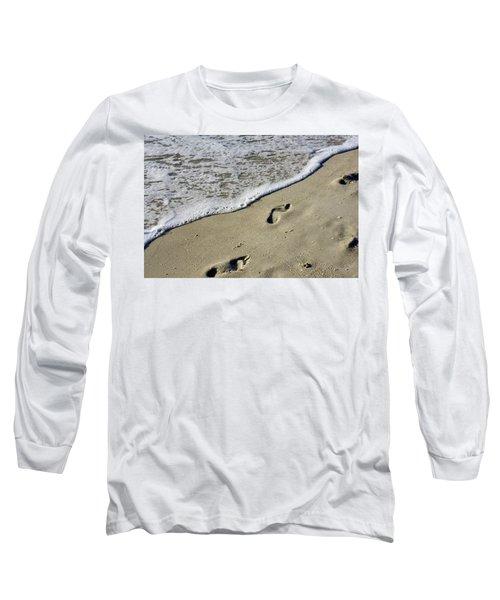 Footprints On The Beach Long Sleeve T-Shirt