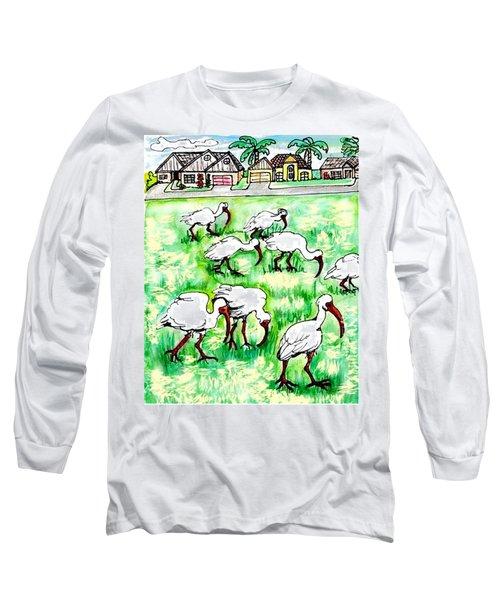 Foraging Ibis Long Sleeve T-Shirt