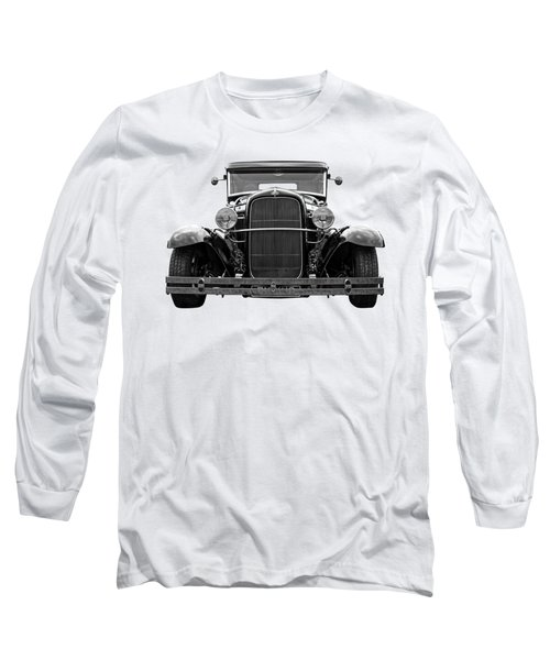 Ford Coupe Head On In Black And White Long Sleeve T-Shirt