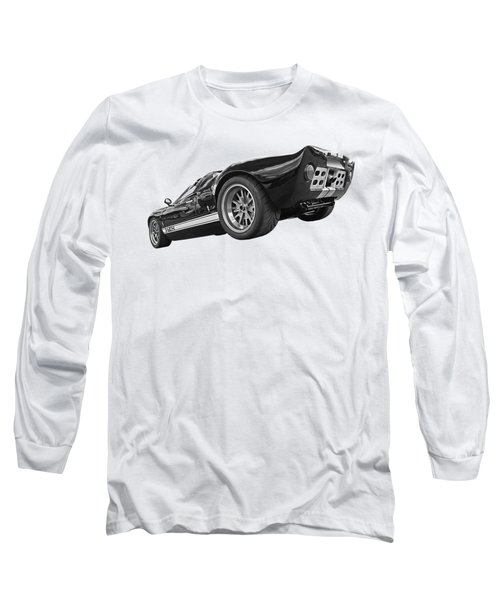 Ford Gt 40 In Black And White Long Sleeve T-Shirt