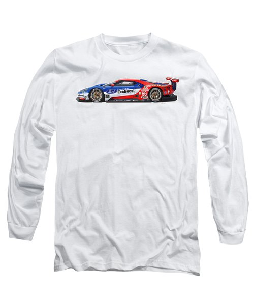 Ford Gt Le Mans Illustration Long Sleeve T-Shirt