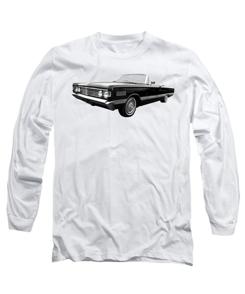 Long Sleeve T-Shirt featuring the photograph Ford Mercury Park Lane 1966 Black And White by Gill Billington