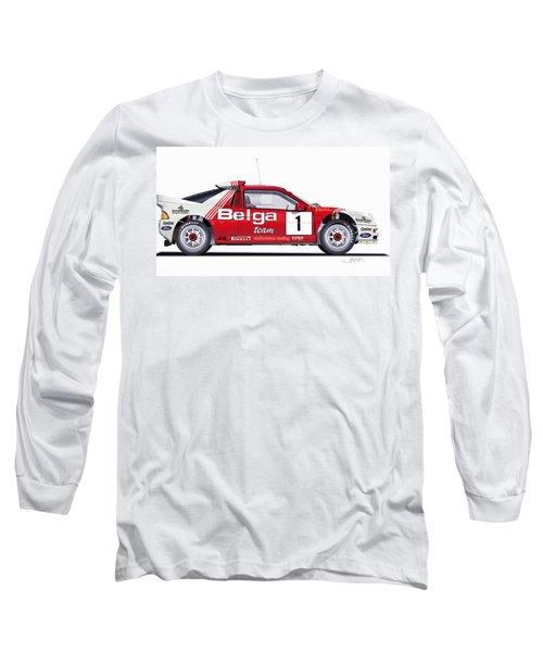 Ford Rs 200 Belga Team Illustration Long Sleeve T-Shirt