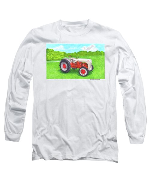 Long Sleeve T-Shirt featuring the painting Ford Tractor 1941 by Jack Pumphrey