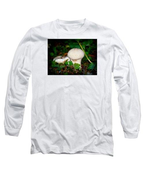 Forest Floor Mushroom Long Sleeve T-Shirt by Lori Seaman