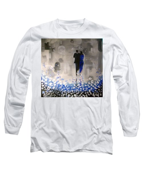 Long Sleeve T-Shirt featuring the painting Forever Love by Raymond Doward