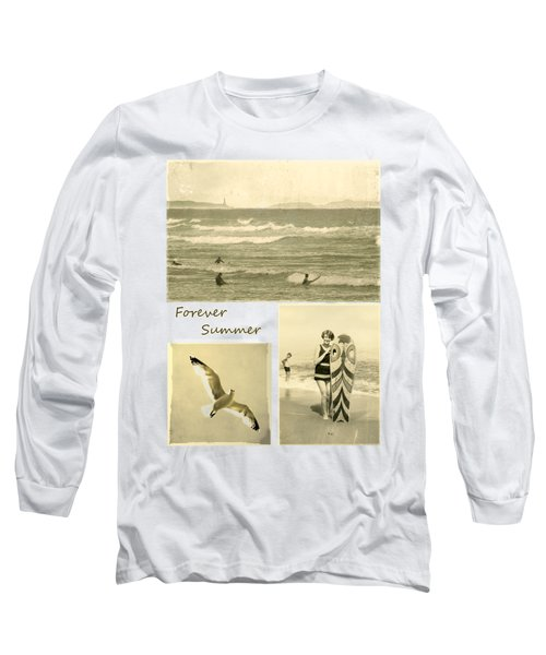 Long Sleeve T-Shirt featuring the photograph Forever Summer 3 by Linda Lees