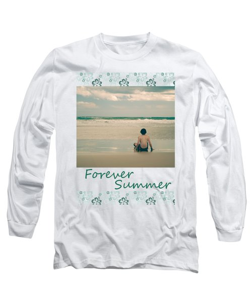 Long Sleeve T-Shirt featuring the photograph Forever Summer 7 by Linda Lees