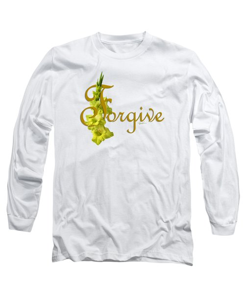 Long Sleeve T-Shirt featuring the digital art Forgive by Ann Lauwers