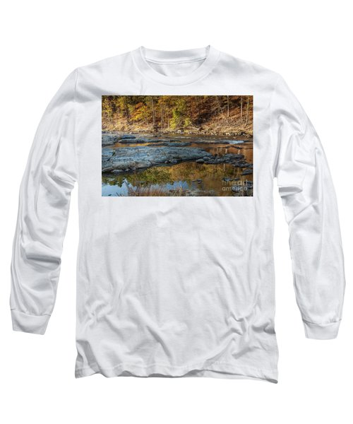 Long Sleeve T-Shirt featuring the photograph Fork River Reflection In Fall by Iris Greenwell