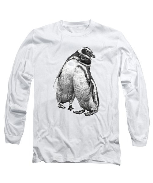 Forrest And Jenny The Penguins Long Sleeve T-Shirt by Abbey Noelle