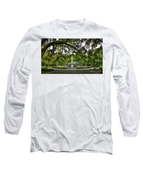 Forsyth Park Fountain Historic Savannah Georgia Long Sleeve T-Shirt by Reid Callaway