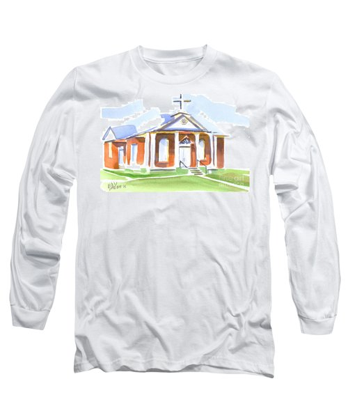 Long Sleeve T-Shirt featuring the painting Fort Hill Methodist Church by Kip DeVore
