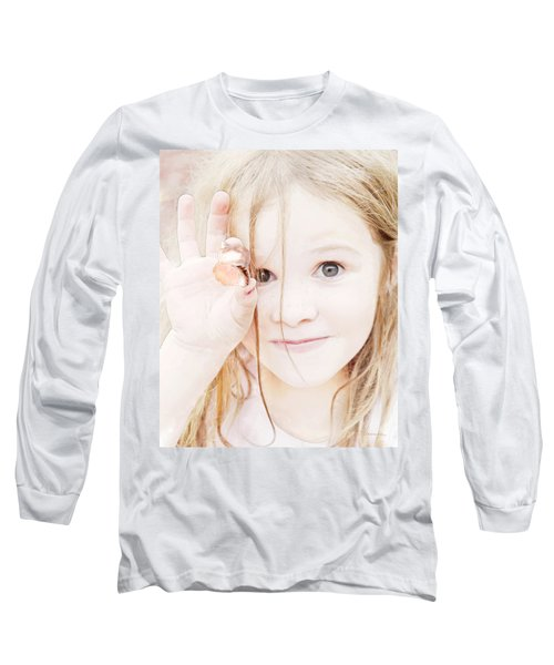 Found A Seashell Long Sleeve T-Shirt by Francesa Miller