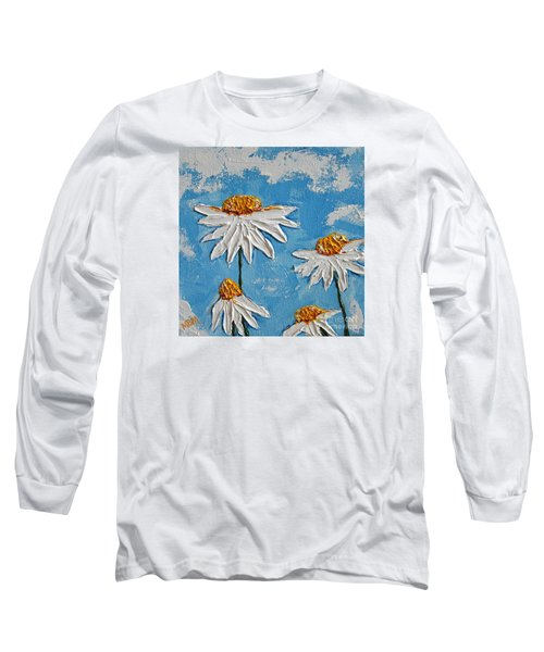 Four Daisies Long Sleeve T-Shirt