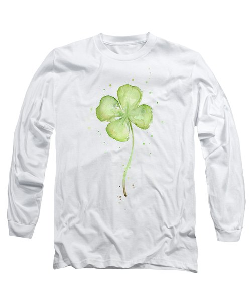 Four Leaf Clover Lucky Charm Long Sleeve T-Shirt