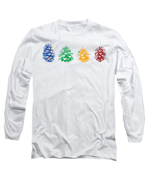 Four Pine Cones Long Sleeve T-Shirt by Stan  Magnan