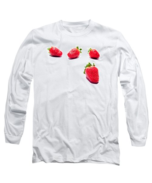 Four Strawberries Long Sleeve T-Shirt