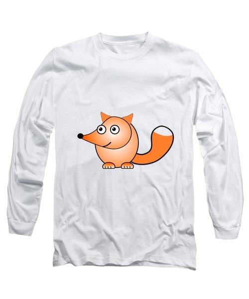 Fox - Animals - Art For Kids Long Sleeve T-Shirt by Anastasiya Malakhova