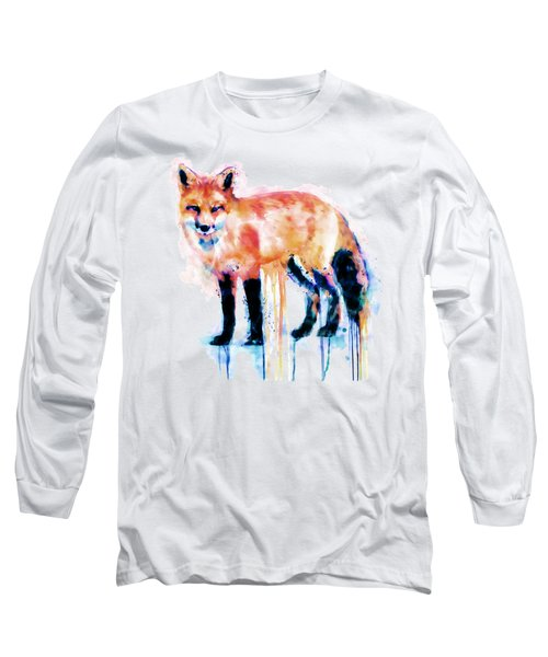 Fox  Long Sleeve T-Shirt by Marian Voicu