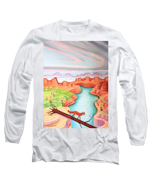 Fox Trotting Long Sleeve T-Shirt by Tracy Dennison