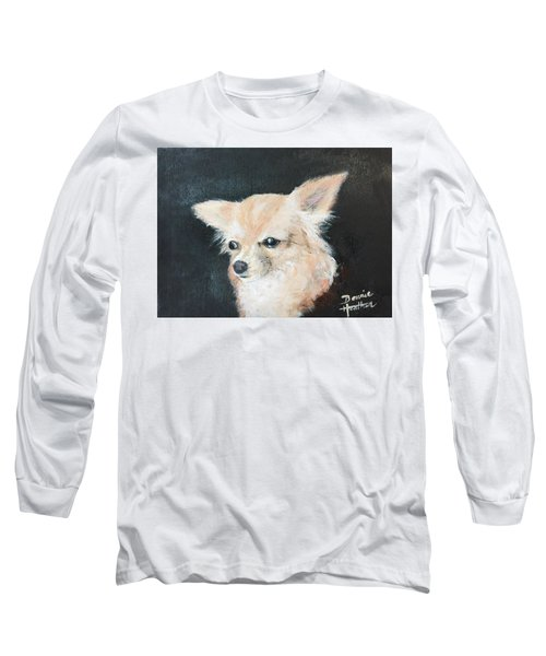 Long Sleeve T-Shirt featuring the painting Foxy Lady  by Bonnie Heather