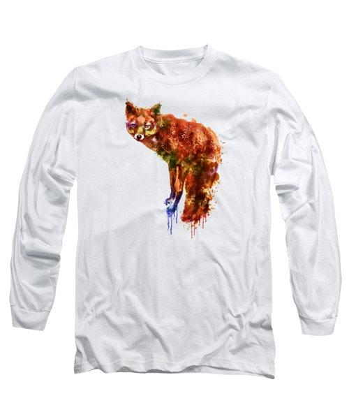 Foxy Lady Watercolor Long Sleeve T-Shirt