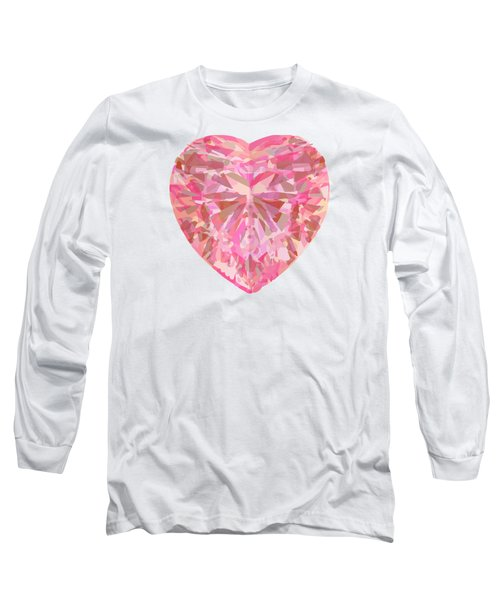Fracked Heart Long Sleeve T-Shirt by Stan  Magnan