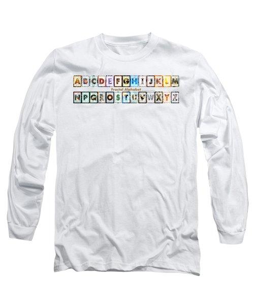 Fractal - Alphabet - Banner Long Sleeve T-Shirt