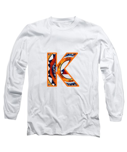 Fractal - Alphabet - K Is For Kaleidoscope Long Sleeve T-Shirt