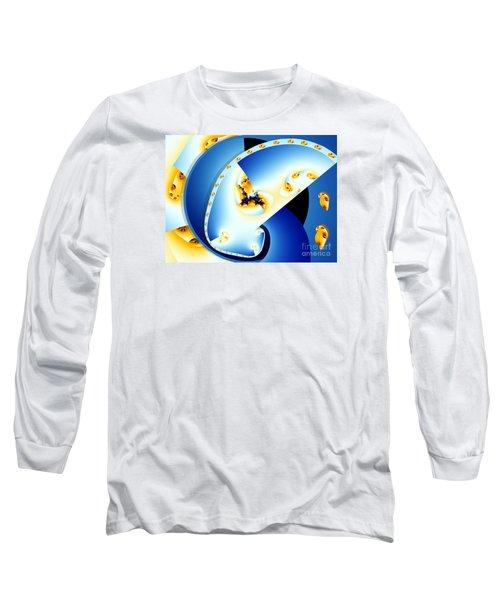 Fractal Construct Long Sleeve T-Shirt by Ron Bissett