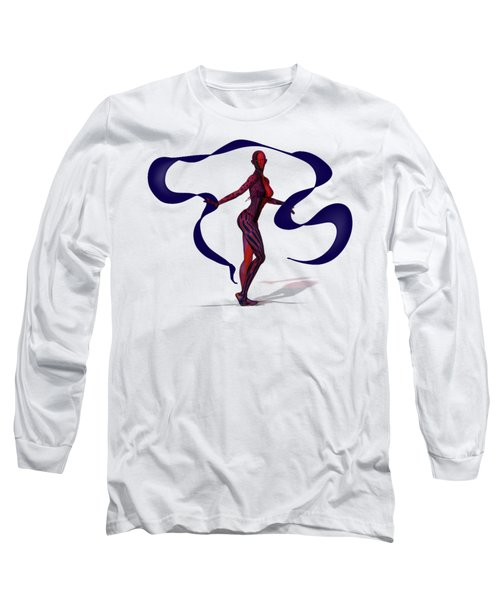 Fractal Jess With Ribbon Long Sleeve T-Shirt