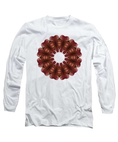 Fractal Wreath-32 Salmon T-shirt Long Sleeve T-Shirt
