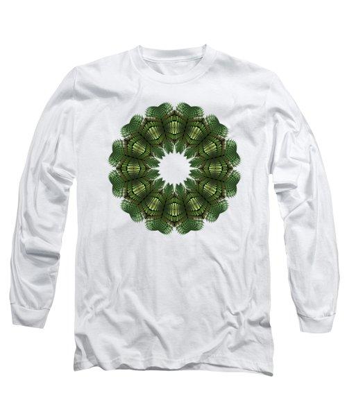 Fractal Wreath-32 Spring Green T-shirt Long Sleeve T-Shirt