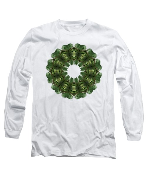 Fractal Wreath-32 Spring Green T-shirt Long Sleeve T-Shirt