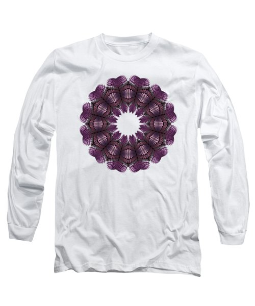 Fractal Wreath-32 Violet T-shirt Long Sleeve T-Shirt