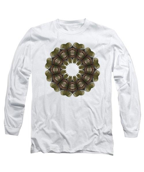Fractal Wreath-32 Earth T-shirt Long Sleeve T-Shirt