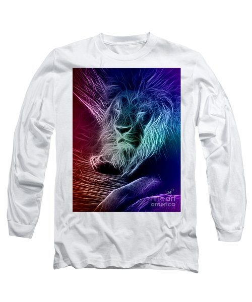 Fractalius Lion Long Sleeve T-Shirt