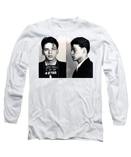 Frank Sinatra Mug Shot Horizontal Long Sleeve T-Shirt