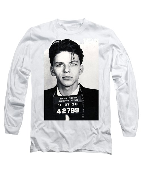 Frank Sinatra Mug Shot Vertical Long Sleeve T-Shirt