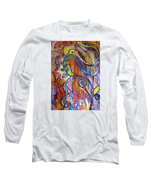 Free As A Bird  Long Sleeve T-Shirt by Corina  Stupu Thomas