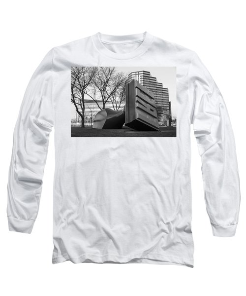 Free Stamp In Cleveland In Black And White  Long Sleeve T-Shirt by John McGraw