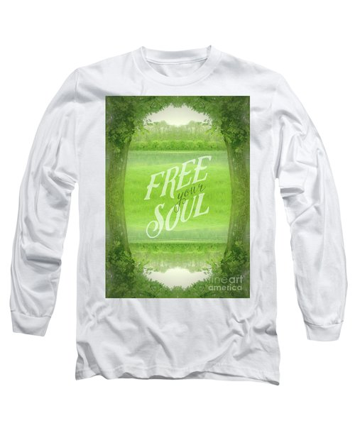 Free Your Soul Grand Canal Forest Fontainebleau Chateau Long Sleeve T-Shirt