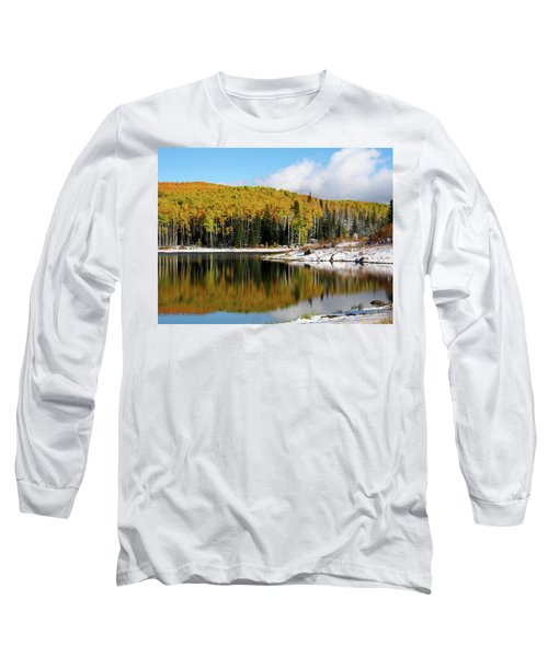 Freeman Lake In Northwest Colorado In The Fall Long Sleeve T-Shirt