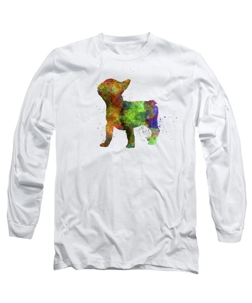 French Bulldog 01 In Watercolor Long Sleeve T-Shirt
