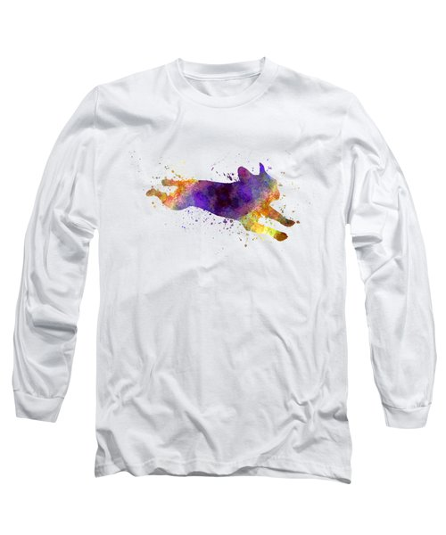 French Bulldog 03 In Watercolor Long Sleeve T-Shirt