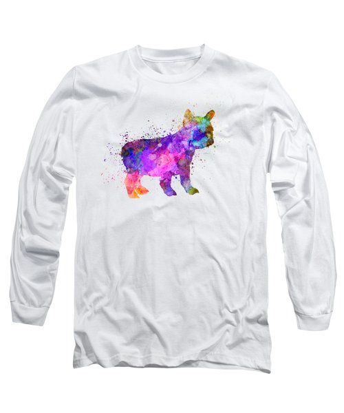 French Bulldog Puppy 01 In Watercolor Long Sleeve T-Shirt
